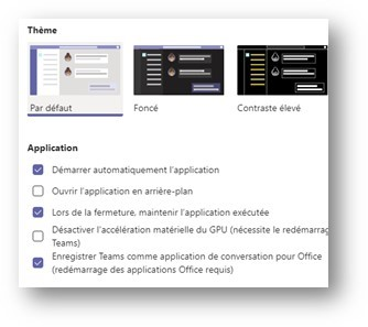 Microsoft Teams démarrer automatiquement l'application